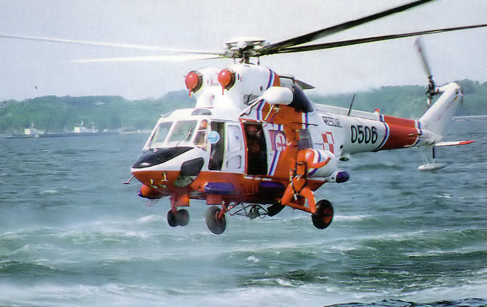 Polish navy helicopter W-3 as air ambulance, search and rescue