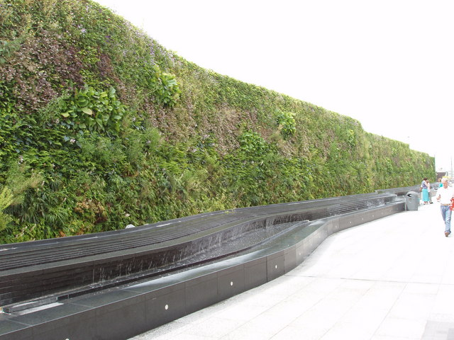 Green wall at Westfield