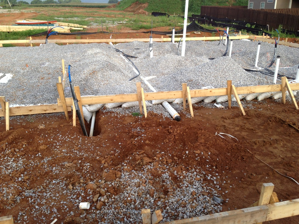 A slab foundation in Spring Hill Tn. Photo by Van Woody