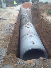 Expansion of the stormwater sewer network in Oropos, Greece
