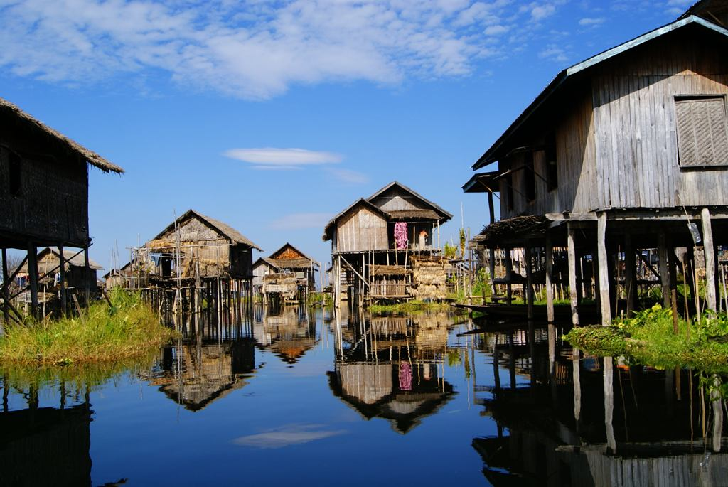 City of Yawnghwe in the Inle Lake