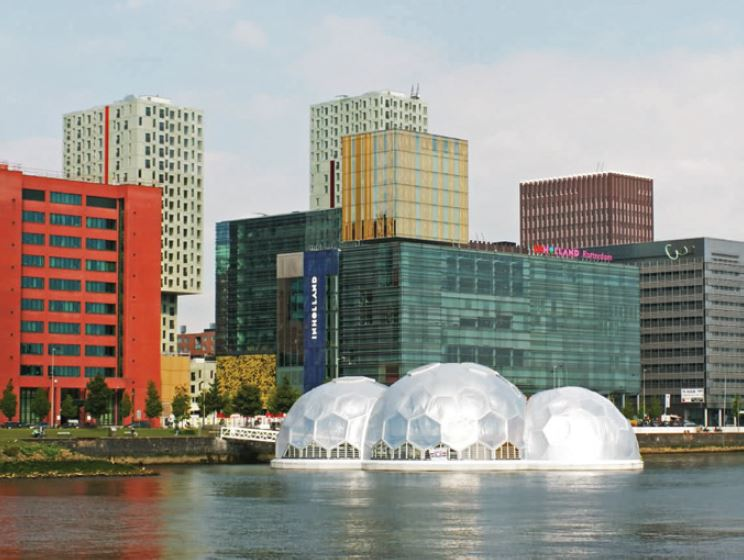 Floating pavilion in Rotterdam