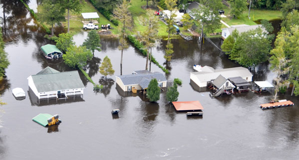 The IRS will provide tax relief for flood victims in several South Carolina counties, including Sumter County, above. © Demotix Live News/Demotix/Corbis